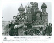 1990 Sean Connery Michelle Pfeiffer in Russia Original News Service Photo