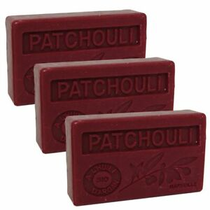 3 x 100g Bars - Patchouli Scented French Soap with Organic Argan Oil