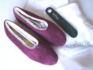 Morlands Ladies Ayr Damson 'Purple' Suede Sheepskin lined Slipper. New, size 6