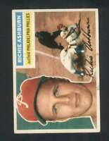 1956 Topps #120 Richie Ashburn EX+ Phillies Grey Backs 126172