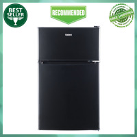 Galanz 3.1 Cu Ft Compact Estar Two Reversible Door Fridge with Freezer, Black