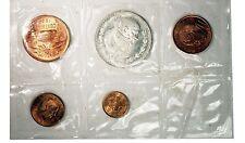 1966 Mexico Mint Set Lot Of 5 Coins Silver Peso (Morelos)