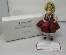 "New listing Shirley Temple ""Dimples"" Porcelain Danbury Mint Doll Movie Classics"