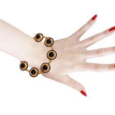 Antique 18K Yellow Gold Vermeil Charm Chain Bracelet Fashion Jewelry