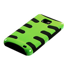AT&T SAMSUNG GALAXY S2 II DUAL LAYER HARD COVER+SILICONE CASE GREEN