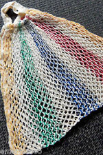 vintage SAC FILET Cabas Crochet Dentelle Shopping RETRO Handmade 6O's Coton Bag