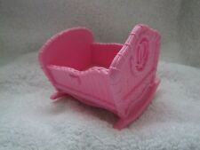 New FISHER PRICE Loving Family PINK BABY CRADLE from TWIN TIME DOLLHOUSE Nursery