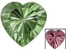 Zandrite color change stones set of 2 12 mm x 12 mm heart shaped  6 carats