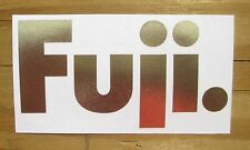 "Stickers Fuji Retro Pro Cut Gold 4"" x 2"""