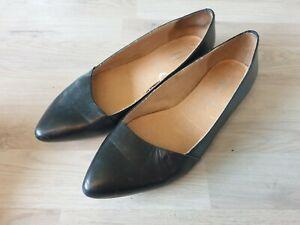 5th Avenue Damen Sommer Pumps Schuhe Ballerinas schwarz Echt Leder SEXY Gr. 39