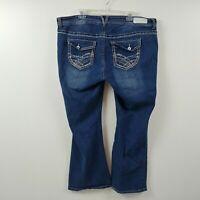 Ariya Jeans Womens Jeans Size 20 Short Measures 42x30 Bootcut Low Rise Dark Wash