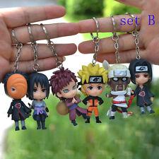 Set Of 6pcs Keychain Naruto Pendant Sasuke Manga Toy Kids Key Ring Gift Cute New