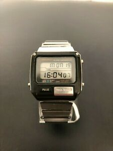 Vintage 1982 Seiko S229-5019 Pulsemeter Alarm Chronograph Men's Digital Watch