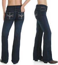 Wrangler 10MWZHS Mae Booty Up Boot Cut Stretch Jeans - Size 13/14=Aus 18