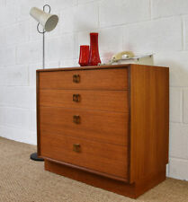 Bedroom Vintage/Retro Teak 4 Chests of Drawers