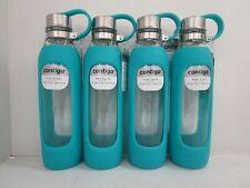 4 CONTIGO PURITY GLASS WATER BOTTLES 20 OZ EACH W/ CARRY HANDLE SCUBA NT 7142