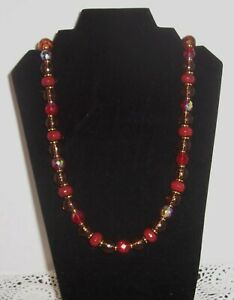 JOAN RIVERS  MULTI COLOR FACETED CZECH GLASS BEAD NECKLACE
