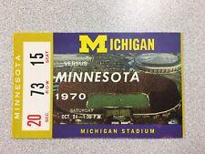 Michigan vs. Minnesota 1970 Football Ticket Stub- Big House-RARE