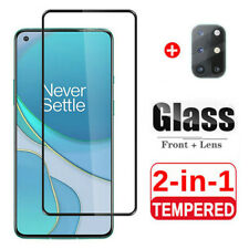 For OnePlus 8T / 8T Plus 5G Full Cover Tempered Glass + Camera Lens Protector