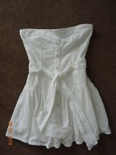 Blanc Broderie Anglaise Bustier Robe Bay Taille 12