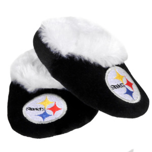 Pittsburgh Steelers NFL Baby Infant Black Booties, Size Large 6/9 Months, NWT