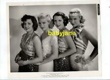 ARLINE JUDGE CLAIRE TREVOR EVELYN VENABLE JOYCE COMPTON ORIG 8X10 PHOTO 1936