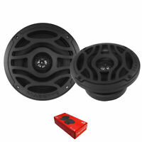 "Pair of Massive Audio T65X 6.5"" 480 Watt 4 Ohm 2-Way Marine Coaxial Speakers"