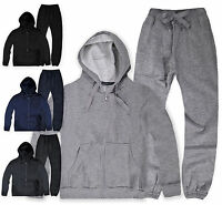 Boys Tracksuit New Kids Plain Hooded Jogging Bottoms And Hoodie Ages 7-14 Years