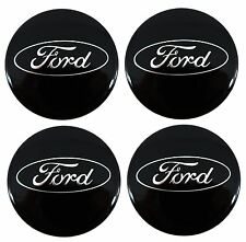 4 x Genuine Ford S-Max Gloss Black Alloy Wheel Centre Cap / Trims