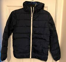 DEMO BOYS LIGHTLY QUILTED, HOODED NAVY JACKET, 11-12 YEARS