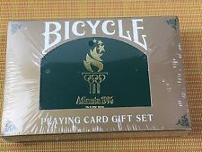 SEALED SET 1996 Atlanta Olympics Bicycle 2 Deck Playing Card Gift Set in Box