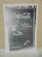 Vintage COCA-COLA PHOTO from COLA CALL Newsletter Of Vintage Paper Ad