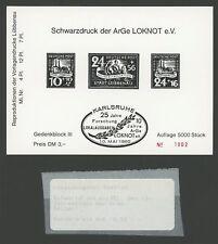 LOKALAUSGABEN LÜBBENAU SCHWARZDRUCK ArGe LOKNOT 1980 STEMPEL SCHWARZ m1081