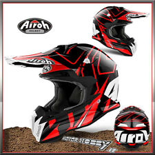 CASCO CROSS ENDURO AIROH TERMINATOR OPEN VIS. SHOCK RED TOVSH55 TAGLIA XL 61-62