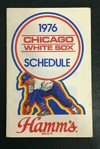 1976 CHICAGO WHITE SOX POCKET SCHEDULE-Hamm's Beer Iron On Logo