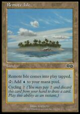 MTG 4x REMOTE ISLE - Urza's Saga *Cycle Land Blue*