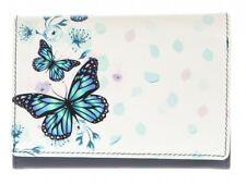 Graffiti/Golunski Small/Medium Leather Flapover Purse Style 77039 Butterfly Blue