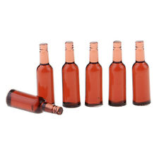 Brown Beer Drink Bottles Doll House Mini Decoration 1/12 Scale Accessories