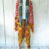 New Umgee Duster Kimono Cardigan XL XXL Floral Mixed Boho Peasant Plus Size