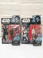 NIP 2 Disney STAR WARS Princess Leia & Sergeant Jyn Erso Action Figure Toys
