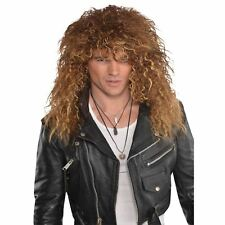 Mens 80s Glam Rock Metal Rocker Punk Wig Fancy Dress Accessory Music Legend Stag