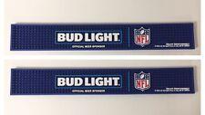 "Bud Light NFL Official Beer Bar Rail Mat ~ New Logo (2) Pack ~ NEW ~ 23"" x 3.5"""