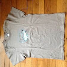 T-shirt Cyrillus taupe Taille 14 ans motif Mini Cooper Manches Courtes