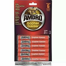 Amdro 6-Pack Gopher Gasser Kills Destructive Lawn Pests Outdoor .75oz