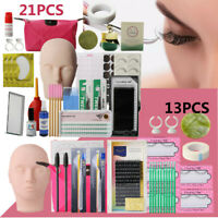 21/13 PCS Cil Kit de Départ SePermanent Mannequin Extension Cils