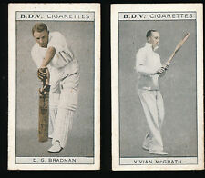 1933 Don Bradman BDV Cigarette card Vivian McGrath back Cricket