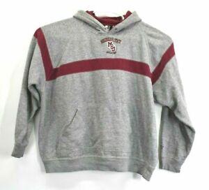 Starter Team Mens XXL Fleece Line Mississippi State Bulldogs Hoodie Sweater Grey