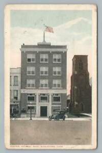 Central National Bank MIDDLETOWN Connecticut Rare Antique Postcard 1919