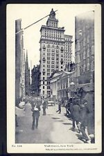 Old Postcard UNITED STATES Wall Street, NEW YORK