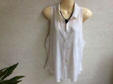 Bella Luxx ivory silk sleeveless shirt  size UK12